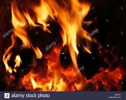 Feste Brennstoffe Heimische Kohle Feuer Brennen Flamme