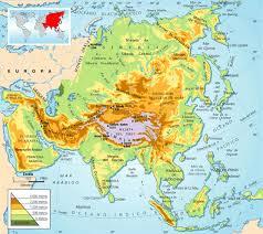 Resultado de imagen de mapa fisico de asia