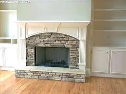 adding stone to fireplace how to install stacked stone veneer progress shot cement board prep install