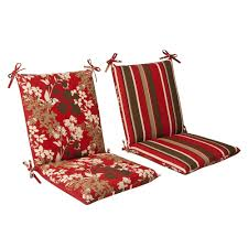 Amazon Pillow Perfect Indoor Outdoor Red Brown Floral Striped