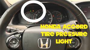 2008 Accord Tpms Light How To Turn Off Tire Pressure Light On A Honda Accord