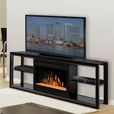 image of contemporary electric fireplace tv stand