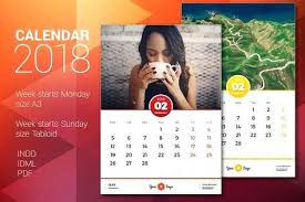 Calendar Template Awesome Best Images On 2018 Templates For Indesign ...