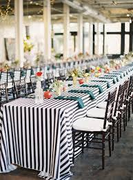 45 14 black and white stripe tablecloth rectangle emporium bride