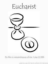 Holy Communion Coloring Pages For Kids Color Bros