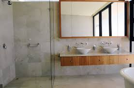 bathroom cabinet design ideas.  Cabinet Bathroom Cabinet Design And Style Ideas A Modern Looking Bathroom Scene  With Two Bowl Sinks On A Woodfaced Shelf Counter And Ideas T
