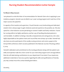letter of recommendation template for nursing student reference letter examples 20 samples formats writing tips
