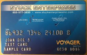 along with the introduction of our voyager card stuck enterprises has also developed stuck s fleet fueling which is a chain of card lock fueling stations