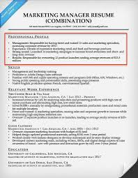 Marketing Manager Resume Profile Sample Picture Gallery For Website