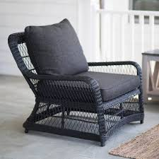 black outdoor wicker chairs. A Curved All Weather Wicker Armchair Is 31 Inches High And 35 Wide Has Black Outdoor Chairs