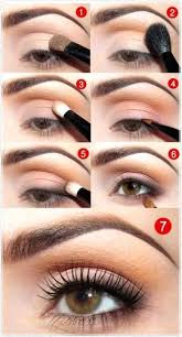 easy natural eye makeup idea for brown eyes for every day
