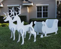 For Outdoor Decorations Santa Sleigh Reindeer Outdoor Yard Decoration New Christmas Sale