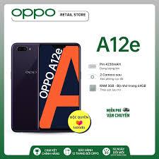 Nơi bán MIỄN PHÍ VẬN CHUYỂN Điện thoại OPPO A12e (3GB/64GB) - Pin trâu hơn  4230Mah Bộ nhớ lớn hơn 64GB Camera sau kép xóa phông Camera trước làm đẹp  AI -