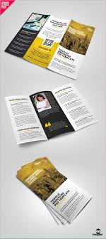 Download Trifold Brochure Psd Template Conventional Travel