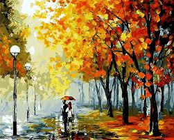 central park rainy pictures landscape oil painting picture by numbers room decor hand painted paintings
