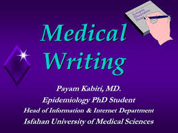 medical writing payam kabiri md epidemiology phd student head of  1 medical