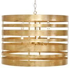 worlds away gold leaf striped metal pendant turner g contemporary pendant lighting