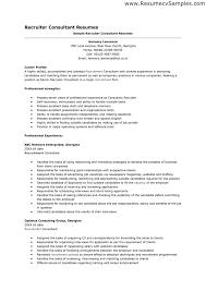 ... Sample Resume Recruiter 9 Technical Samples Corporate Sample Resume  Recruiter ...