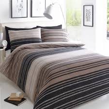 pieridae stripe duvet set bed quilt cover reversible pillowcase texture brown super king size 259136 p5560 15291 image jpg