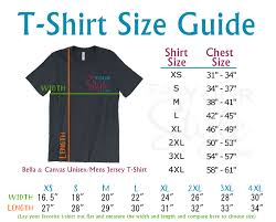 Bella T Shirt Size Chart For Your Style T Shirt Size Guide