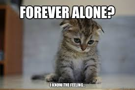 FOREVER ALONE? i know the feeling... - Sad Kitten - quickmeme via Relatably.com