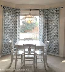 diy bay window curtain rod for less than 10 in hanging curtains in a bay window
