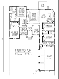 1 story house plans. 3500 SF 4 Bedroom Single Story Home Plan 3 Bath Basement Garage Car Chicago Peoria 1 House Plans