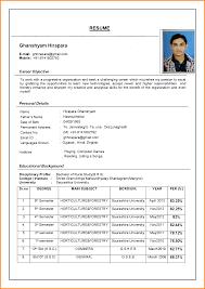 8 Current Resume Format Cote Divoire Tennis