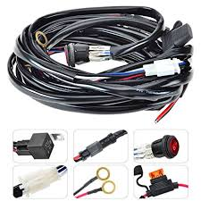 amazon com kawell led wiring harness include switch kit suppot led light bar wiring harness with remote at Led Wiring Harness