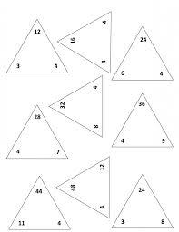 Fact Triangles Multiplication And Division Worksheets Common Math ...