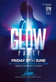 glow flyer glow party flyer psd templates club creative flyers