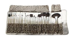 25 45 makeup brushes set w leopard print styled bag 24 piece