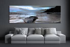 1 piece grey canvas ocean wall decor artwork inside panoramic canvas wall art