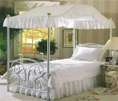 Canopy Bed Drape Fabric Top - Queen Size Solid White - Perfect For Your Existing Canopy Bed Frame