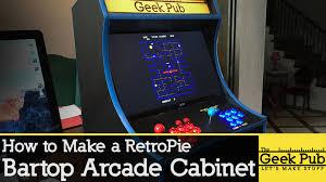 Raspberry Pi Game Cabinet Build A Retropie Bartop Arcade Cabinet With A Raspberry Pi Youtube