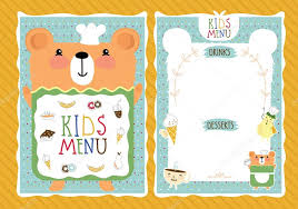 Menu Templates For Kids Templates For Kids Doc650422 Kids
