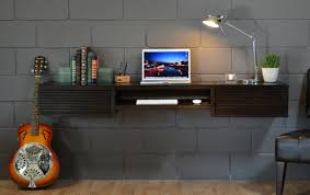 black floating desk idea 1