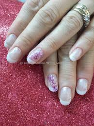 White pearl gel with freehand swirl nail art   must try ...