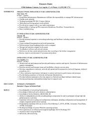 Infrastructure Administrator Resume Samples Velvet Jobs