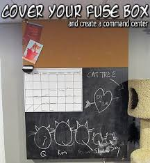 • the world s catalog of ideas cover your fuse box create a command center i love the idea of covering the