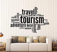 lovely travel wall art com sticker vinyl decal tourism adventure e word inspire message m