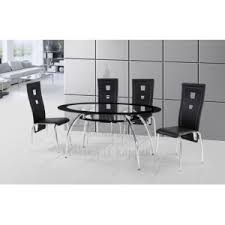 oval glass dining table. Oval Glass Dining Table Set With Black Chairs. Http://www.cheapbedsleeds.co.uk/1443-2542-