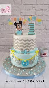 Mickey Mouse 1st Birthday Boy Cake Cake By Simo Bakery Cakesdecor