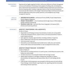 14 15 Architecture Resume Skills 626reserve Com