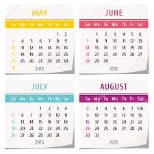 Calendars For June And July 2015 2015 Calendar Design Set Of Four Months May June July August