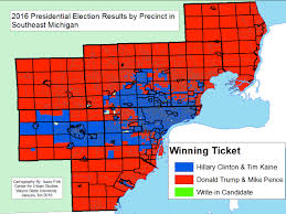 presidential elecion results change evident in southeastern michigan for presidential election