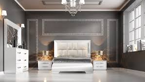 Modern Bedroom Furniture Carmen White Modern Bedrooms Bedroom Furniture