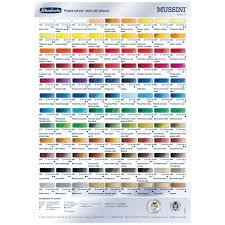 Schmincke Mussini Oil Color Chart