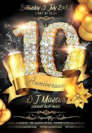 Download The Anniversary Celebration Free Flyer Template For
