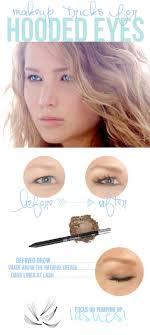 brown eye shadow and falsies